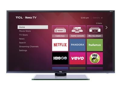 TCL Roku Smart TV for all your favorite apps.