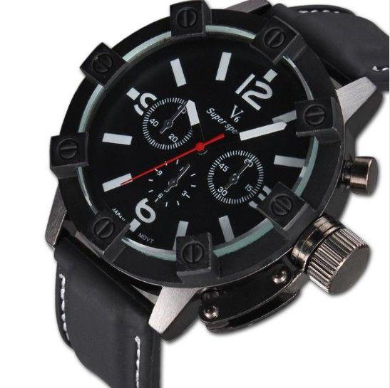 Pánské voděodolné hodinky V6 bílé – pánské hodinky Na tento produkt se  vztahuje nejen zajímavá sleva 351e5f25d0