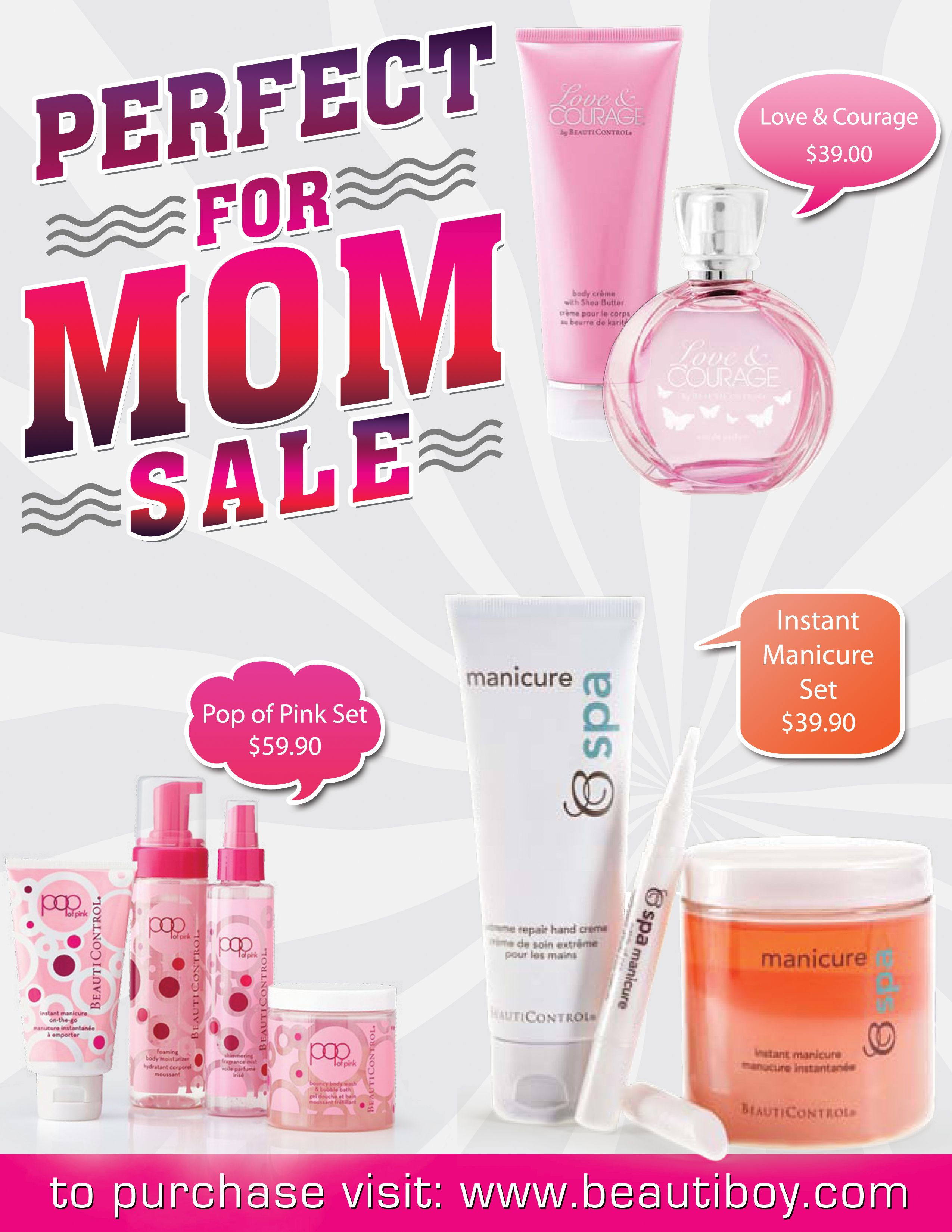 April 2014 perfect for mom sale beauticontrol products