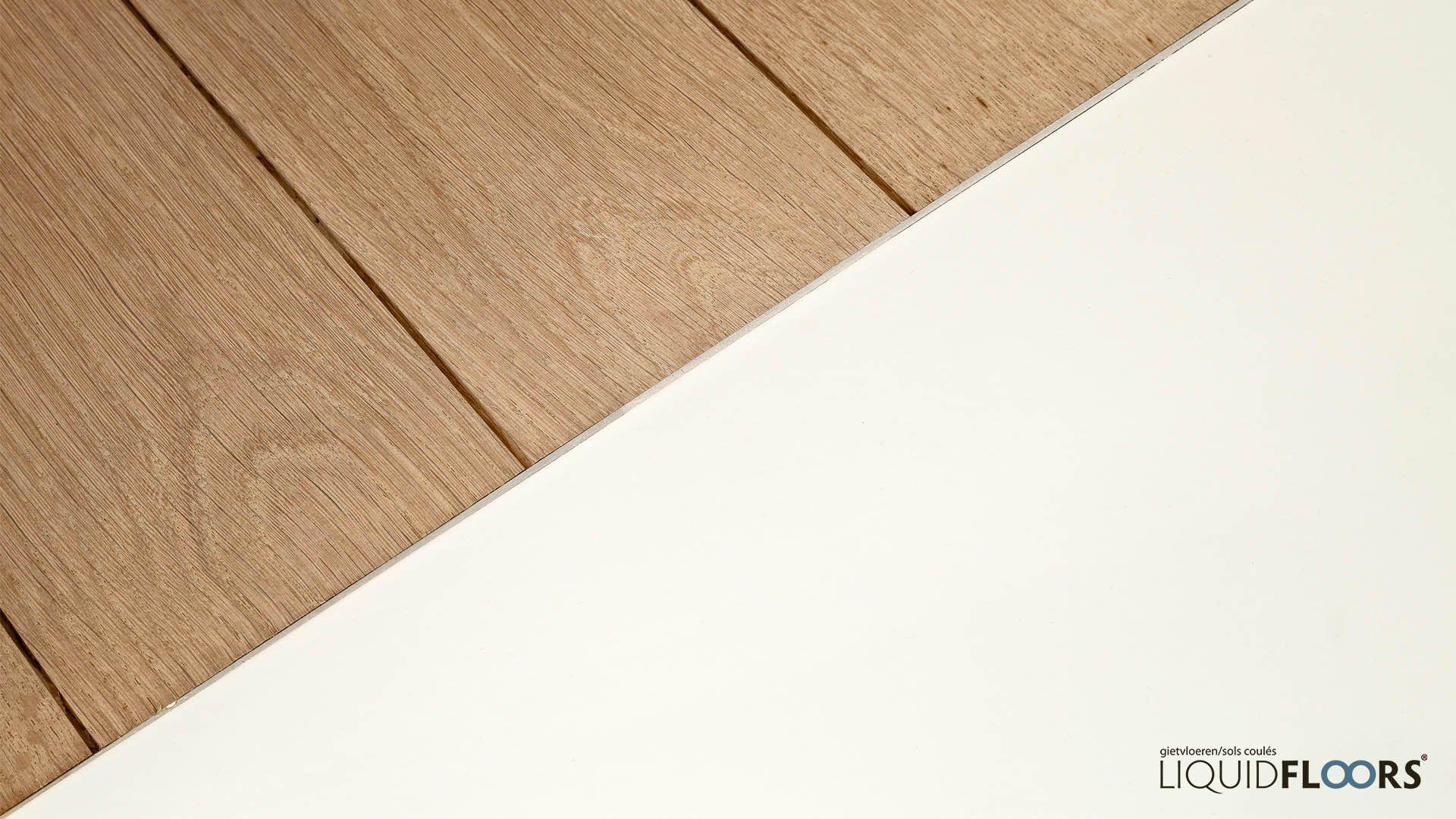 Gietvloer en parket houten vloer met naadloze aansluiting prijs