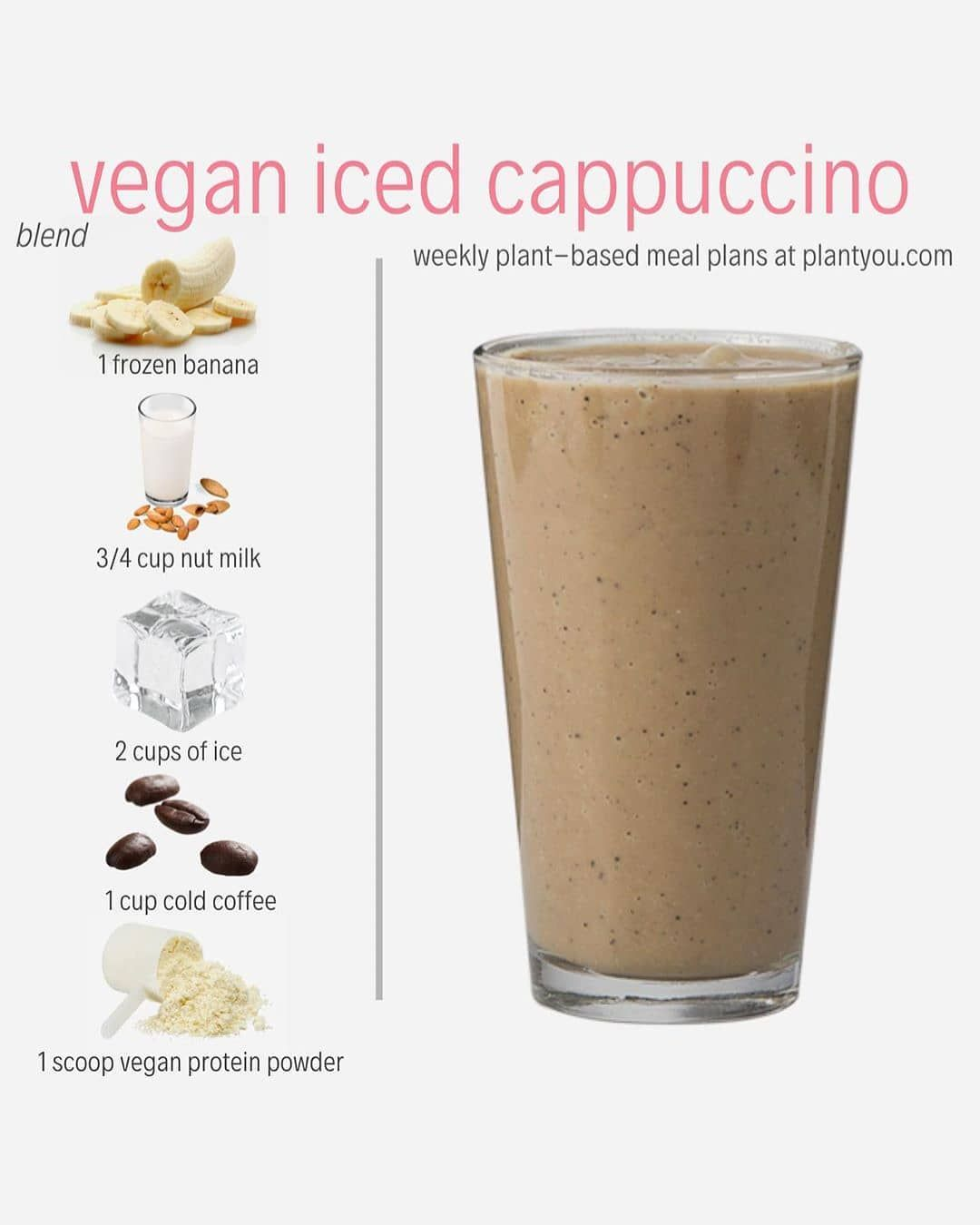 Looking For A Morning Pick Me Up Try Out This Protein Packed Vegan Iced Cappuccino This Iced Cappucci Food Vegan Recipes Plant Based Whole Food Recipes