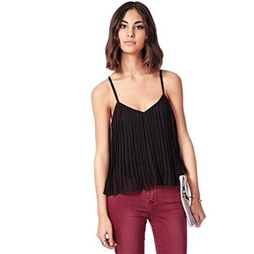 V-neck Halter Bottoming Shirt Loose Pleated Chiffon Halter Top (XS) HP-LEISURE http://www.amazon.com/dp/B00TZE3BBM/ref=cm_sw_r_pi_dp_m.LPvb1KK2RS2