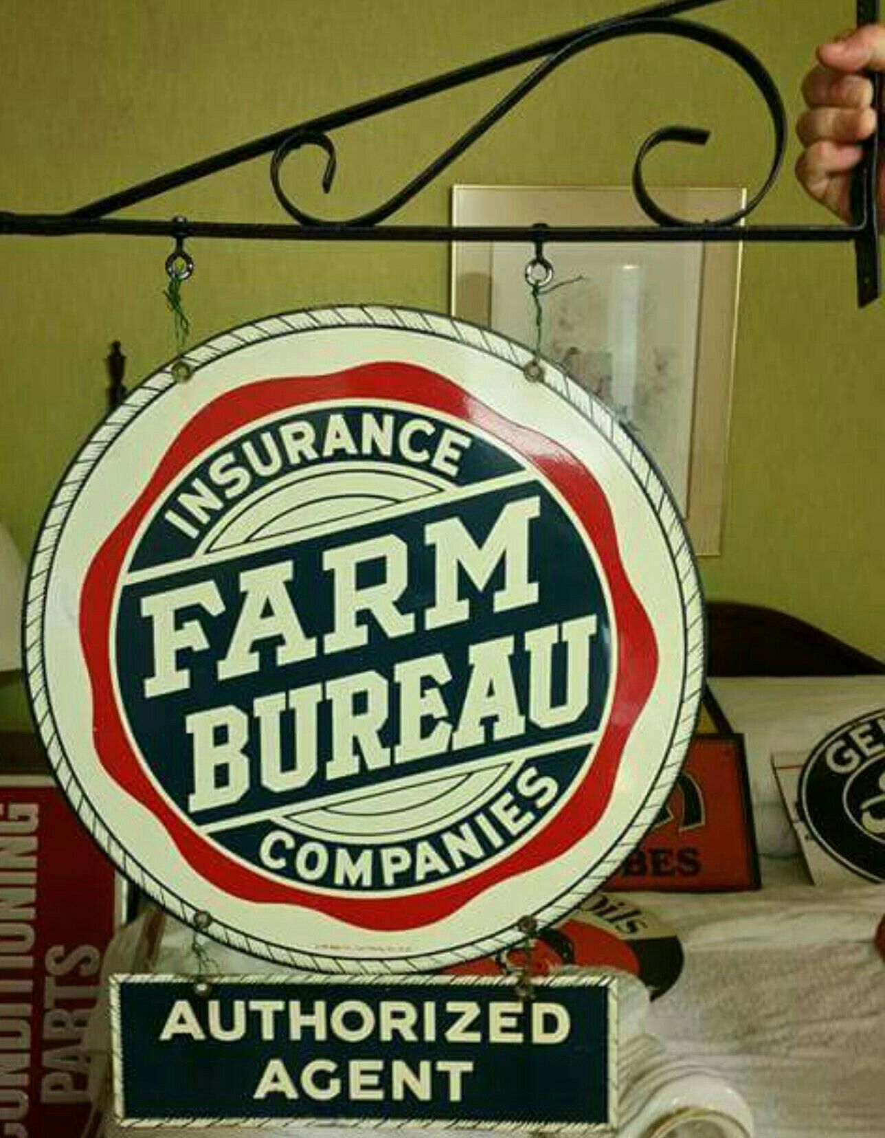 Original Farm Bureau Insurance Companies Porcelain Sign