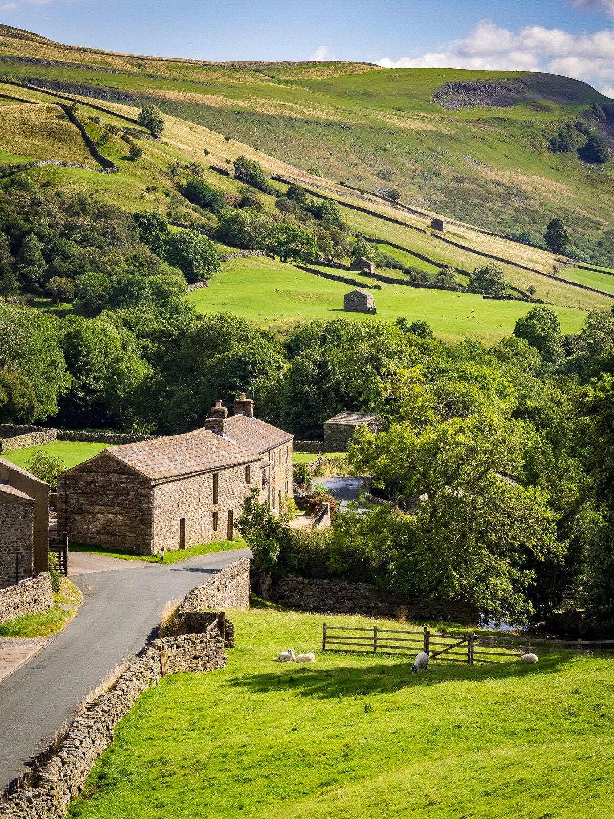 Pack of 8 Yorkshire dales National park area Postcard