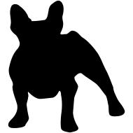 Frenchie Bulldog Frances Bulldog Silhueta