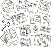 Eine Sammlung von Kritzeleien zum Thema Reisen. Reisen und Kritzeleien lizenzfreie vekt …   – uncategorized