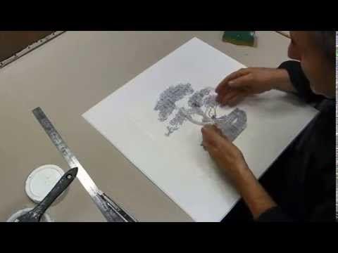 Une Technique révolutionnaire de transfert - YouTube Transfer - Comment Peindre Du Papier Peint