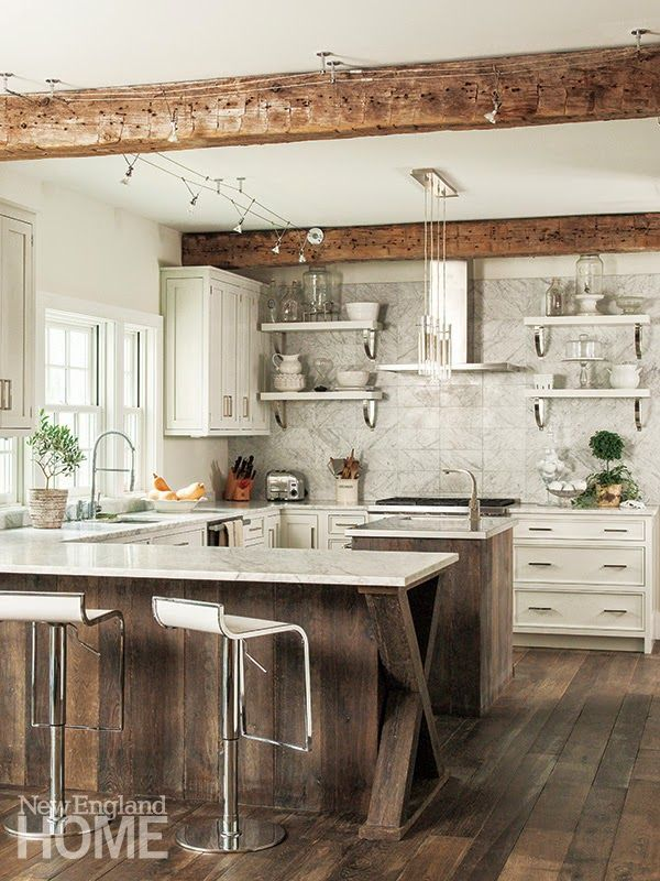 Jurnal de design interior - Amenajări interioare : Eleganță rustică într-o casă din America