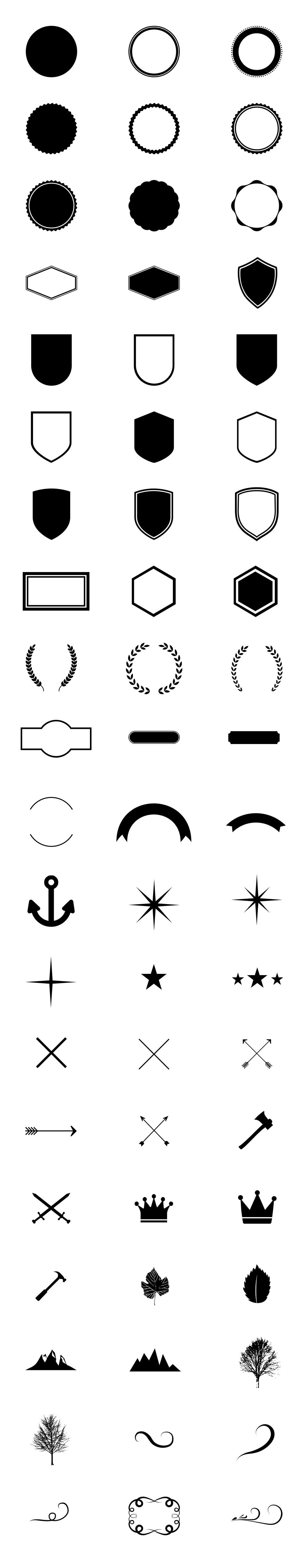 Logo Creation Kit Graphicsfuel Logo Creation Logo Inspiration Branding Logo Design