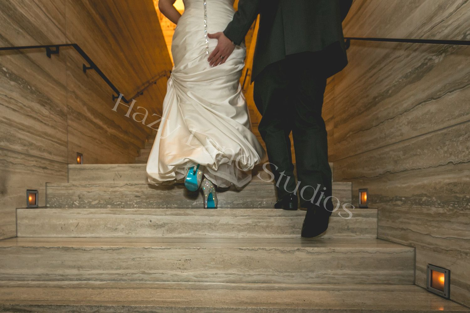 Blue sole shoes wedding dress details rhinestone white shoes but