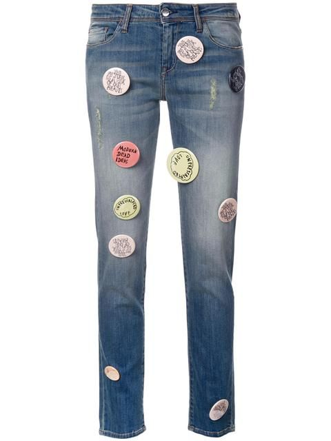 1e1093c5946b33 EACH X OTHER Robert Montgomery Jeans Mit Patches.  eachxother  cloth   patches
