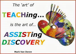 Teaching is assisting in discovery http://englishwithsophia.com/