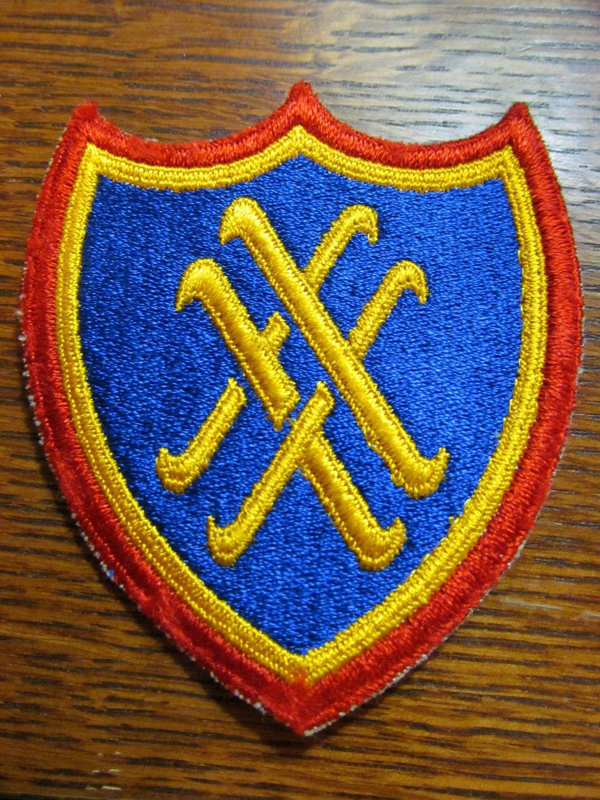 Original Wwii Ww2 Us Army Xx Corps 20th Khaki Cut Edge Shoulder Patch  Picclick