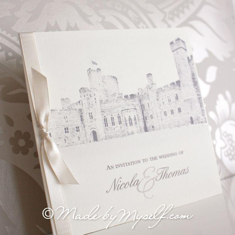 Peckforton Castle Wedding Invitation - Pocketfold design that ...