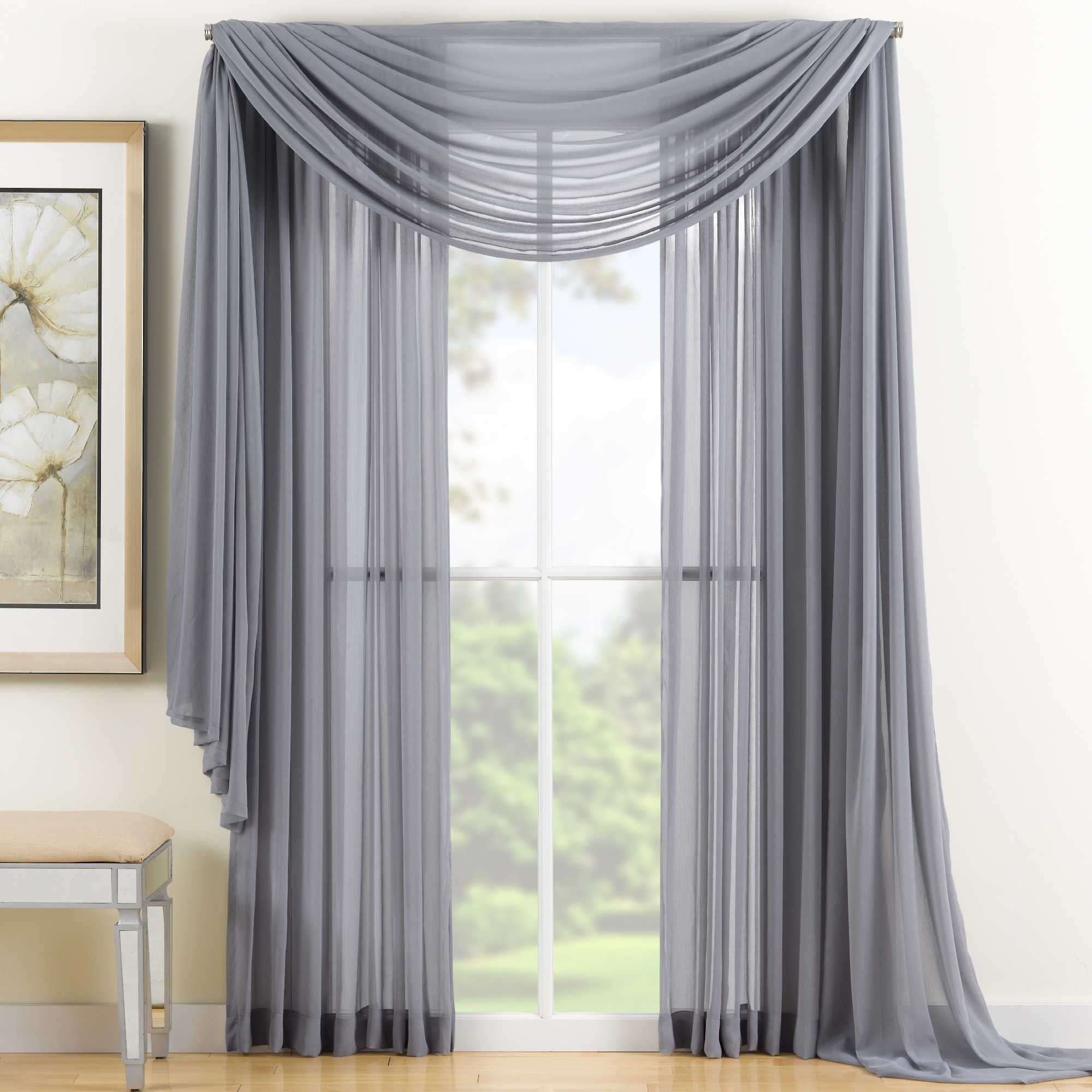 curtain ideas crushed window scarf valance treatment tailored whisper p satin x panel