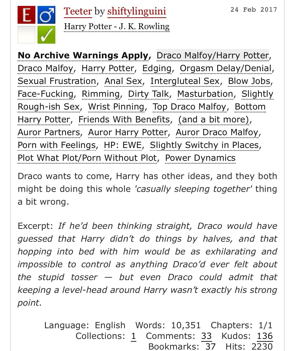 harry and draco porn