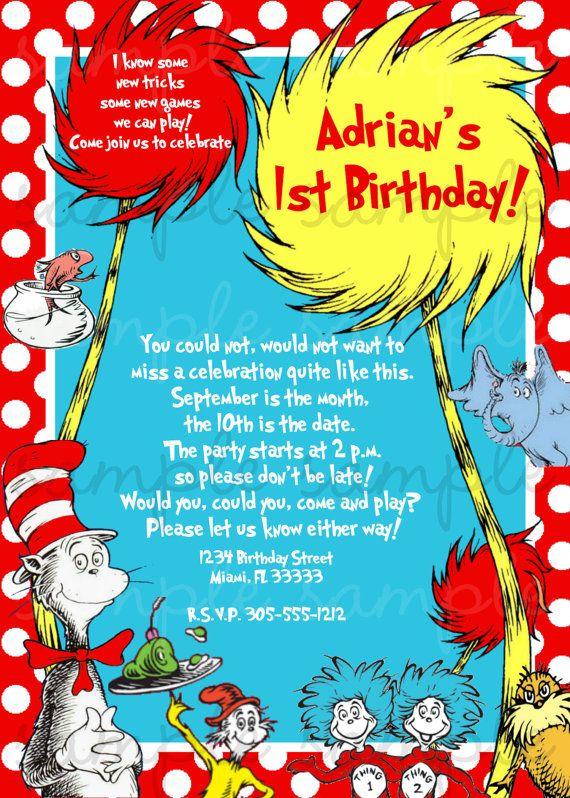 Dr Seuss Invitation...love the rhyme idea!!