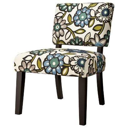 Vale Open Back Slipper Accent Chair Vine Fl Blue 83 98