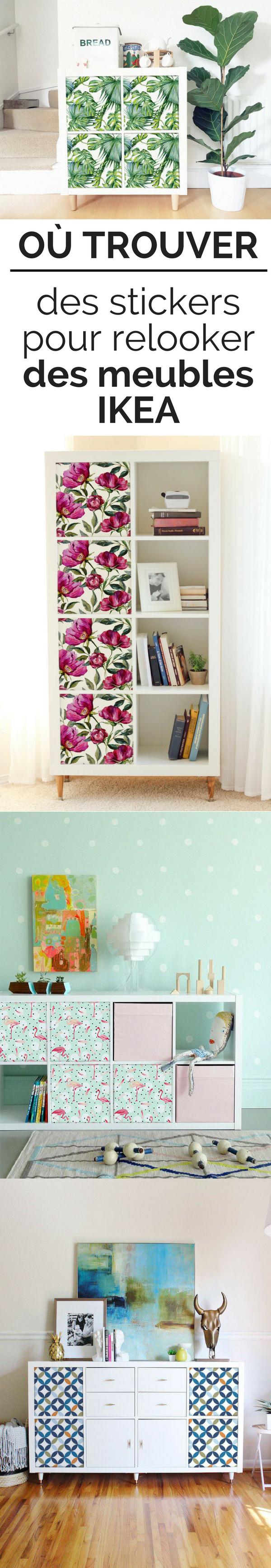 o trouver des stickers et autocollants pour relooker des meubles ikea diy astuces d co. Black Bedroom Furniture Sets. Home Design Ideas
