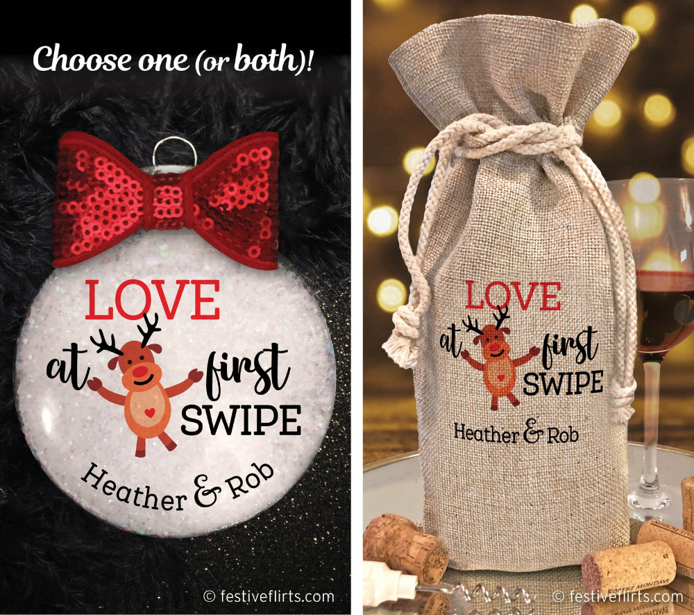 Personalized Boyfriend Girlfriend Ornament Love at First ...