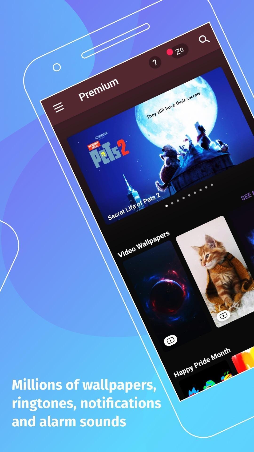 Zedge Wallpaper Home Screen in 2020 Android smartphone