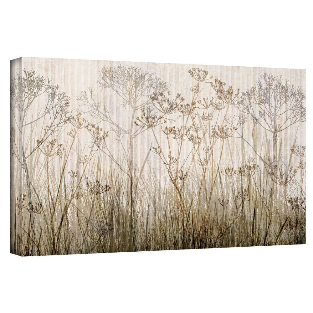 ArtWall Cora Niele 'Wildflowers Ivory' Gallery-Wrapped Canvas | Overstock.com Shopping - The Best Deals on Canvas
