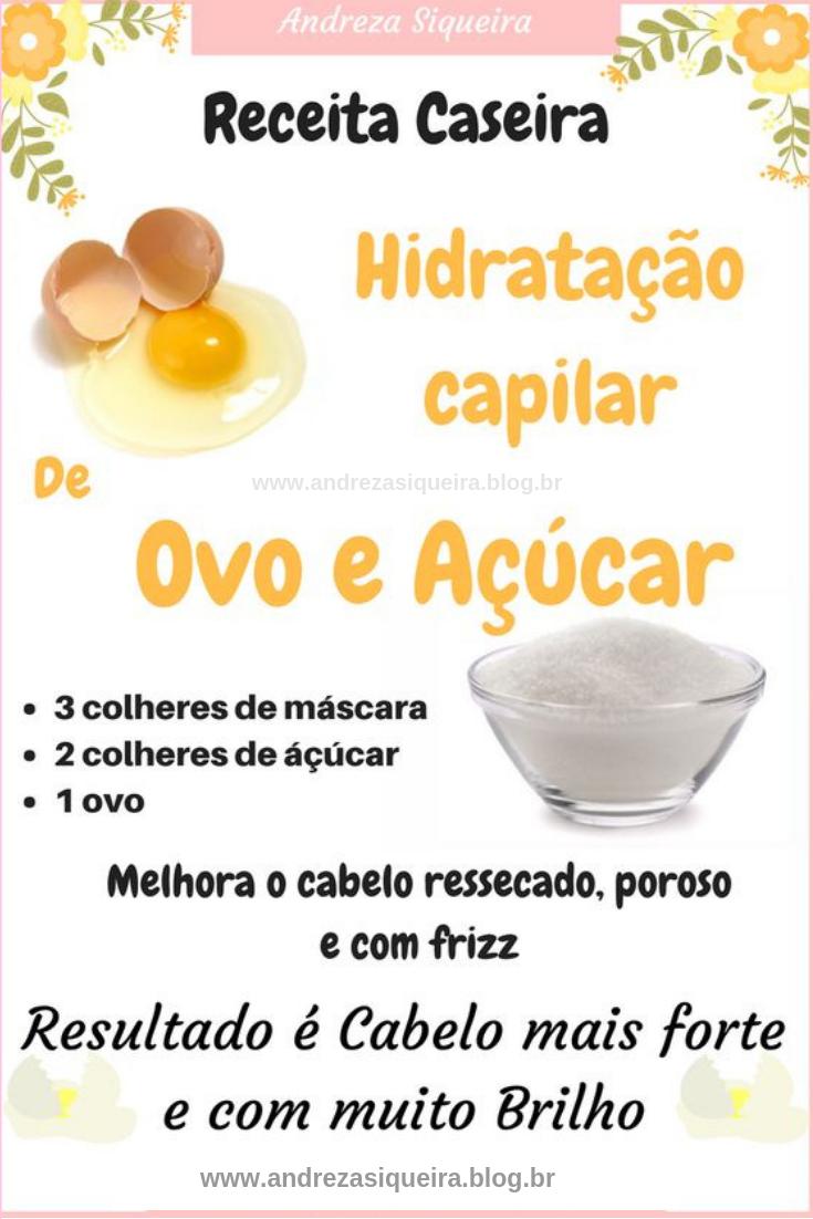 HIDRATAÇÃO DE OVO E AÇÚCAR FORTALECE E DAR BRILHO AO CABELO #cabelo