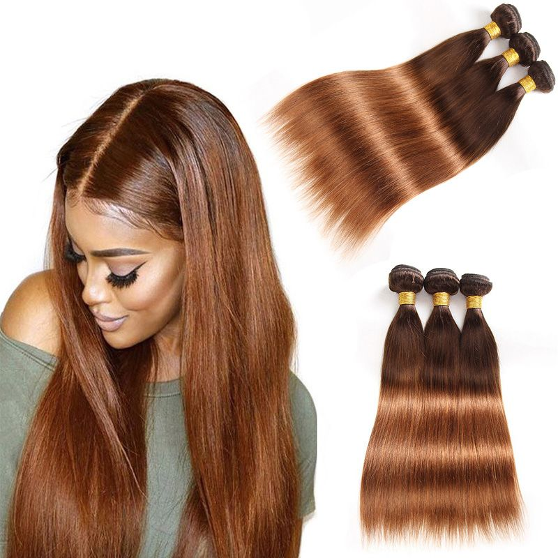 Ombre Human Hair Extensions Brazilian Peruvian Malaysian Straight