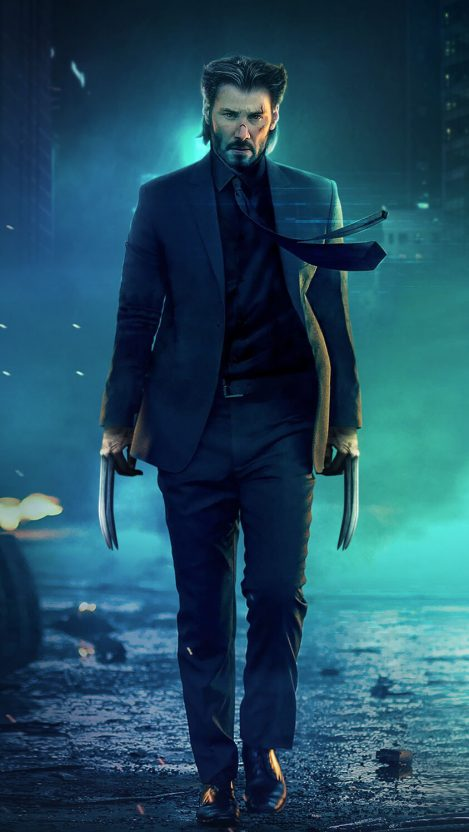 John Wick Wolverine iPhone Wallpaper Free GetintoPik