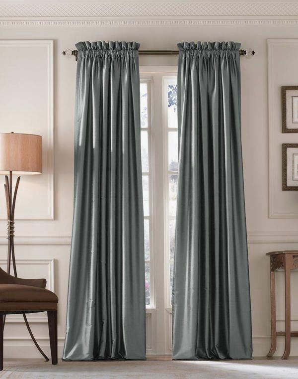 modern curtains ideas images charming blue silk long