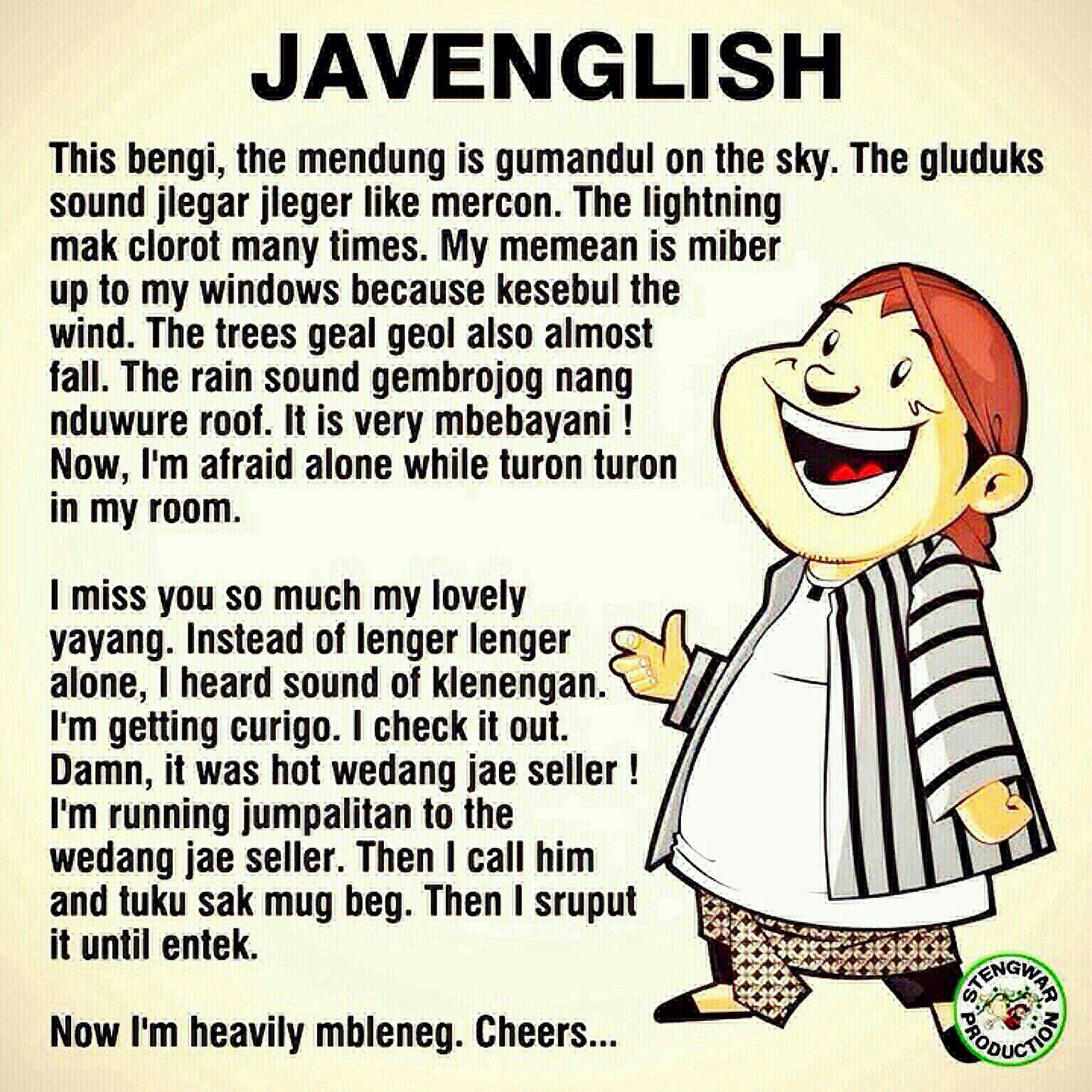 Javenglish Javanese Joke