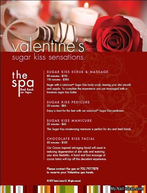 red rock spa valentines day specials announced station casinos salon valentine specials