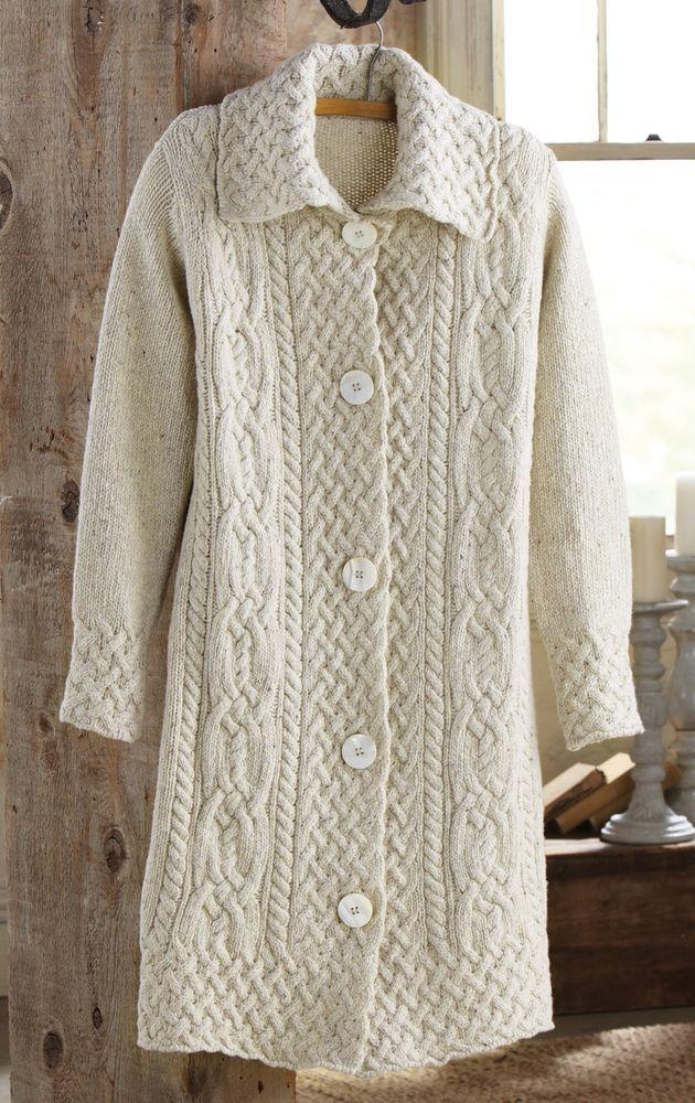 Aran Sweater Coat - Medium - Originally $279 #Irelandseye ...