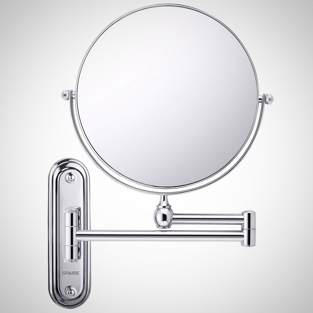 Extendable Bathroom Make Up Mirror 7X Magnifying Double Sided Wall Gorgeous Extendable Bathroom Mirror Design Ideas