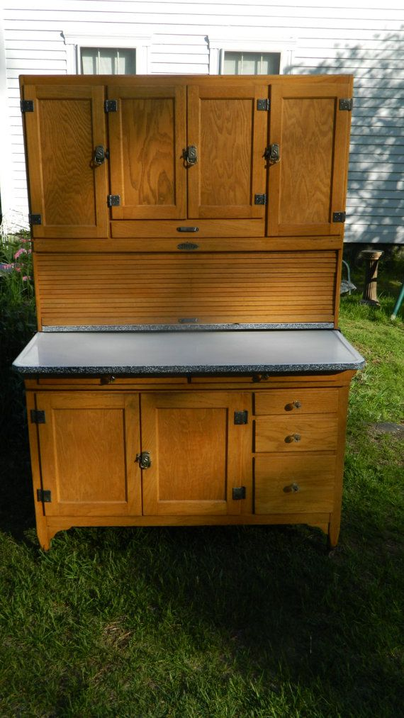1924 Sellers Clearfront 48 Wide Hoosier Cabinet by ...