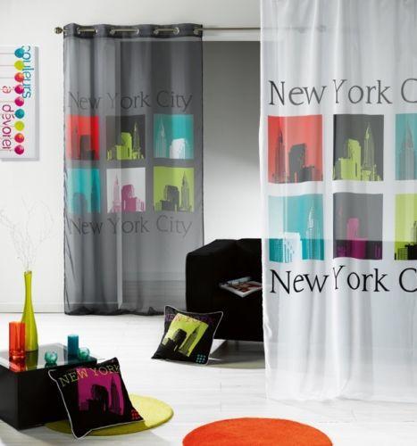 14 90 rideau panneau voile oeillet 140 x 240cm new. Black Bedroom Furniture Sets. Home Design Ideas