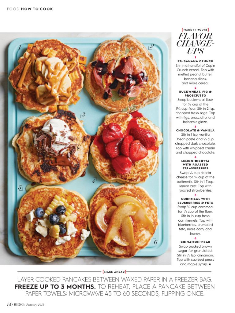 How To Cook Buttermilk Pancakes From Better Homes And Gardens January 2018 Read It On The Texture App Unlimited Access To Banana Butter Crunch Cereal Food