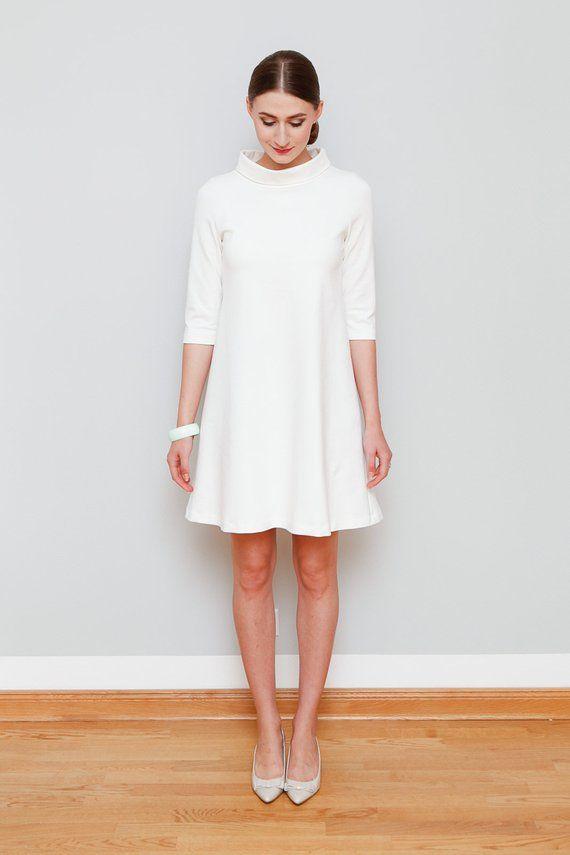 A-Linie Kleid Mary cremeweiß