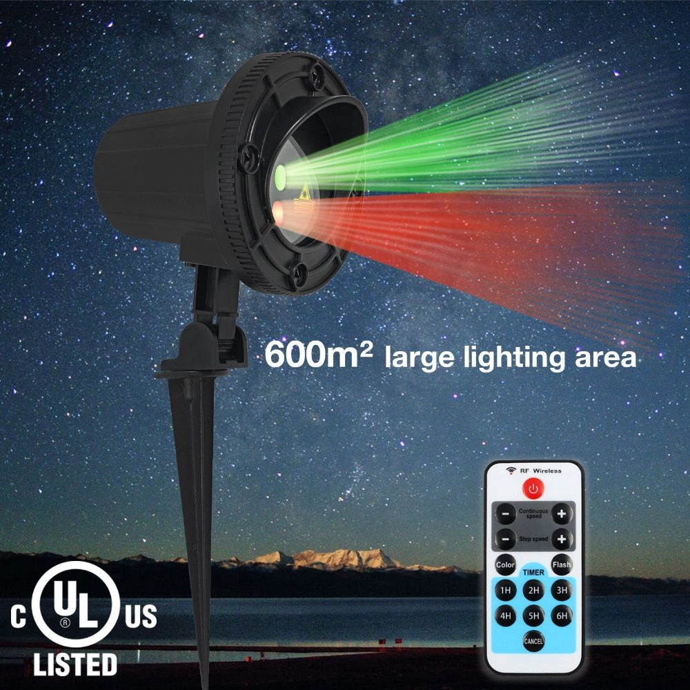 Laser shower christmas lights outdoor remote controlled rg laser star lights projector showers christmas garden laser light waterproof outdoor with ir remote red green mix motion twinkle aloadofball Choice Image