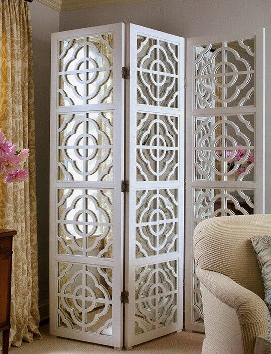 White Mirrored Room Divider Wall Arts Pinterest Mirror room