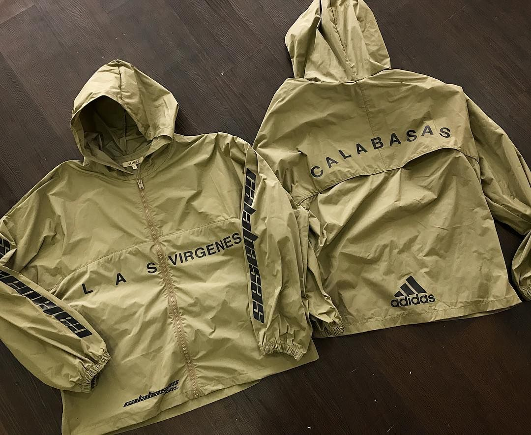 Just Dropped In Store The Yeezy Season 5 Hooded Windbreaker In Military Stone We Have Sizes S M And L Priced 275 Adidas Outfit Mens Outfits Sweater Hoodie [ 884 x 1080 Pixel ]