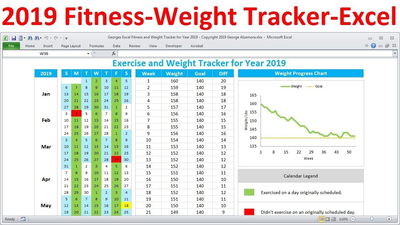 Pin on 2019 Fitness Planner Workout & Weight Tracker for
