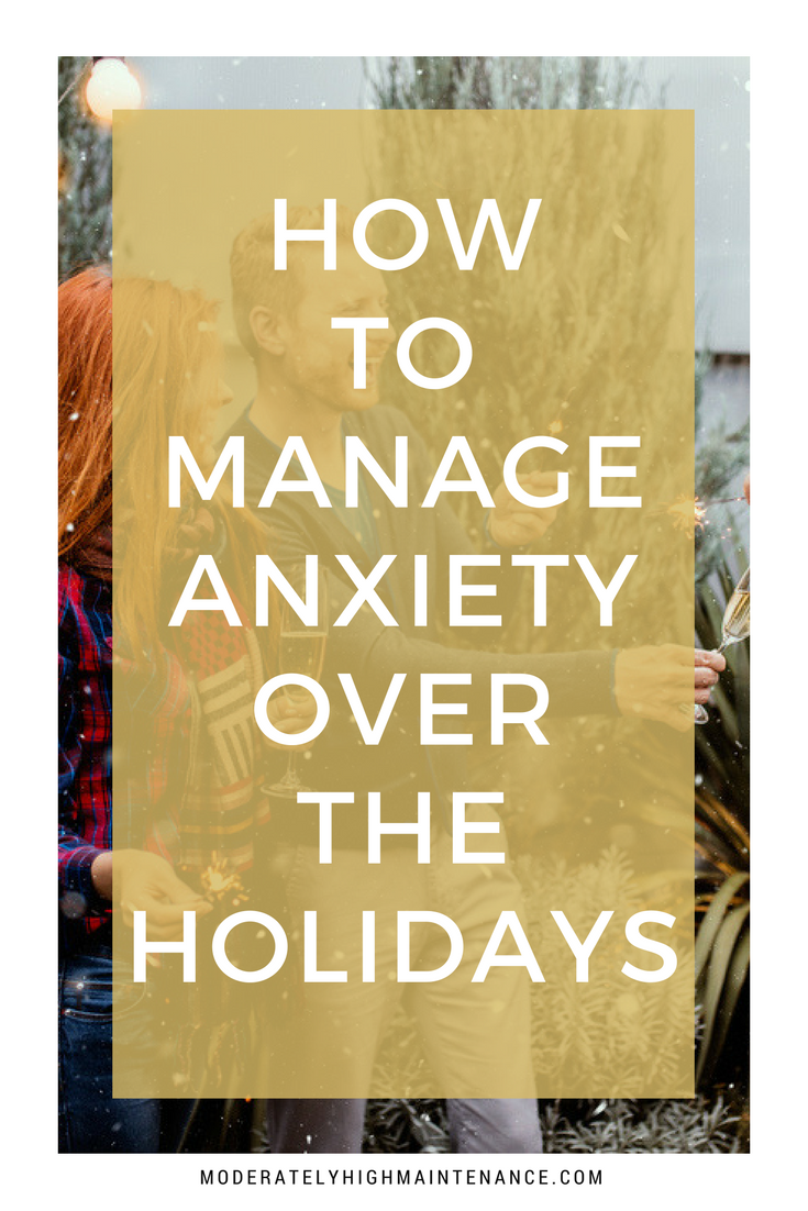 Many look forward to the hectic Holiday season but for those of us who suffer from anxiety, the symptoms can often get worse and more difficult to manage.
