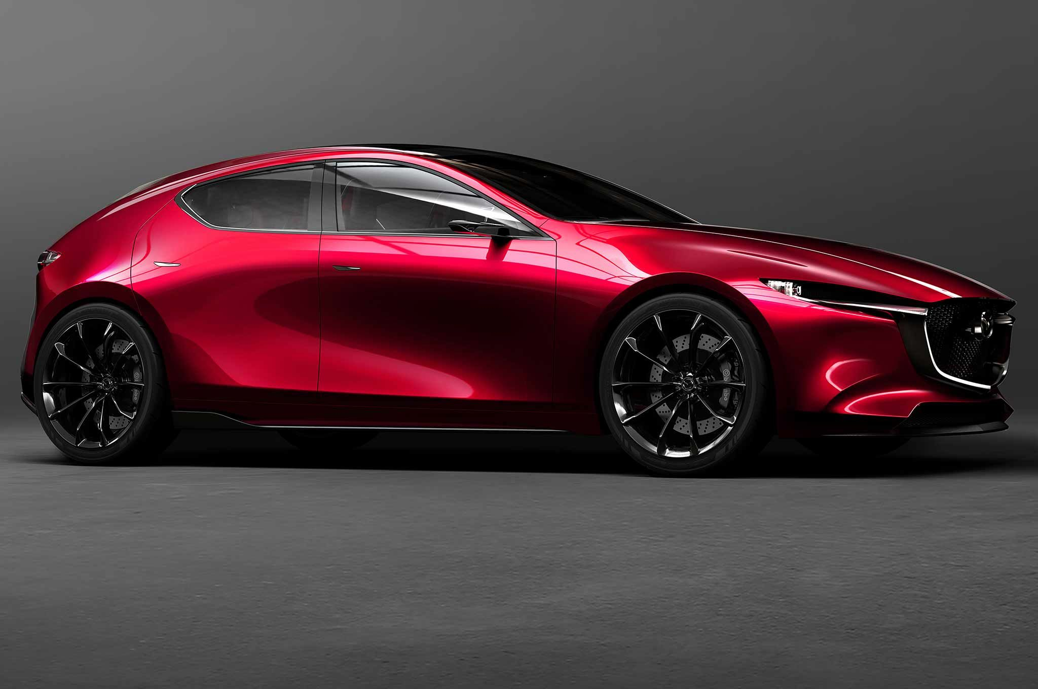 The Mazda Kai Concept Previews The Fourth Generation Mazda3 Hatchback Which Will Use The Upcoming Skyactiv X Engine Fam 4 Door Sports Cars Mazda 6 Wagon Mazda
