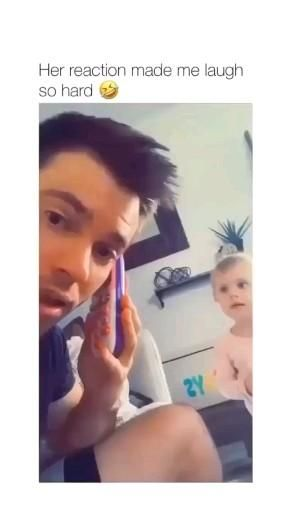 See her reaction