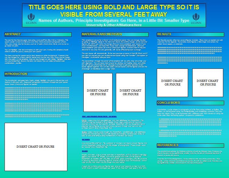 University Of Connecticut College Liberal Arts And Sciences Research Poster Templates