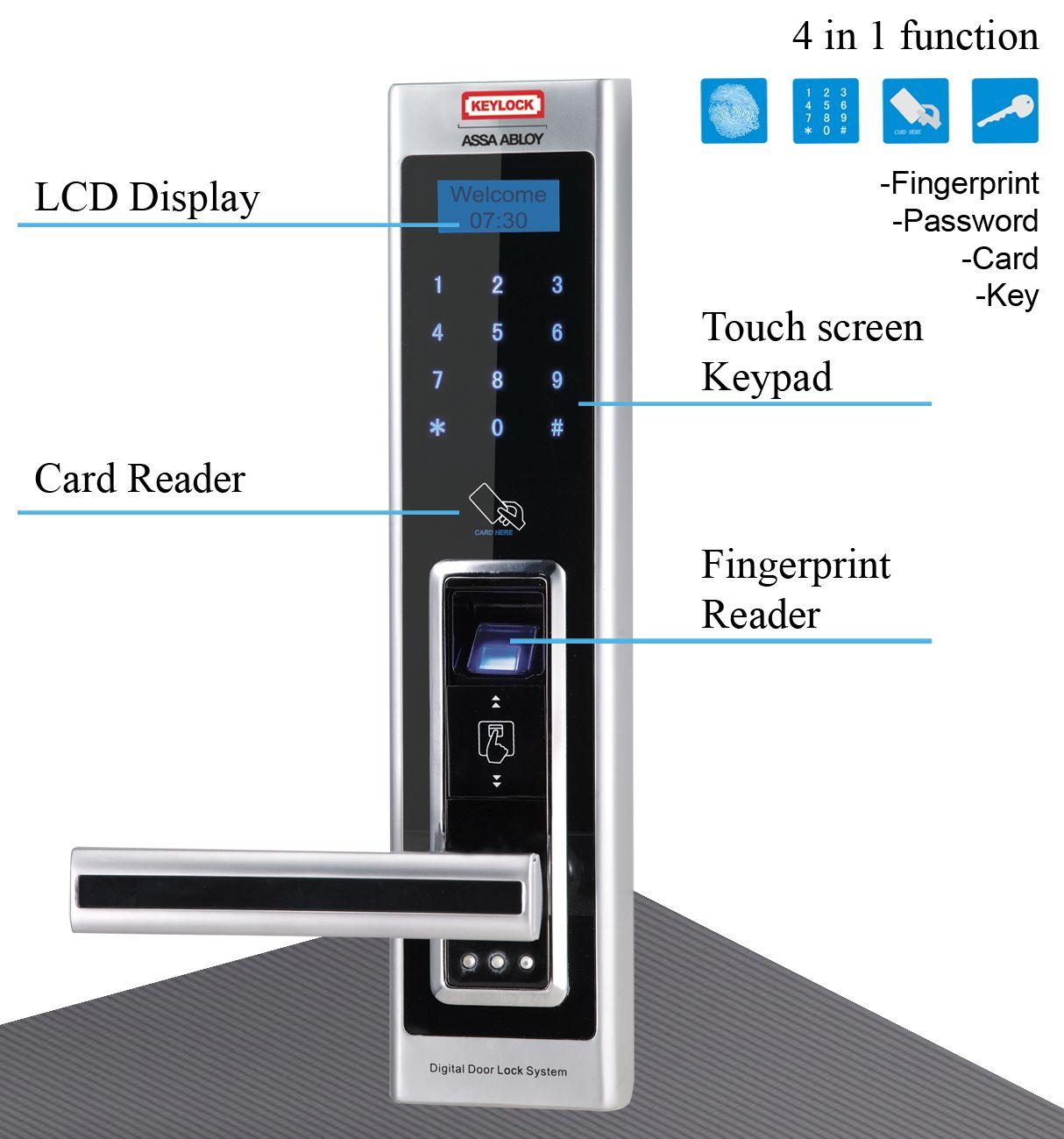 digital office door handle locks. #Fingerprint #DoorLock #door #keypad #Satin #chrome #handdoor #Electronic · Home OfficesFingerprintsHandle Digital Office Door Handle Locks
