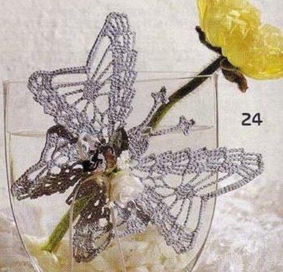 Butterflies and their free charts! | crochet butterfly | Pinterest