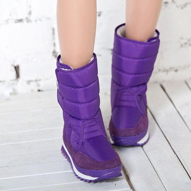 2016 de Invierno botas de Nieve de Las Mujeres 8 Color Cálido impermeable  Botas de Cuña 7f89255fee7f