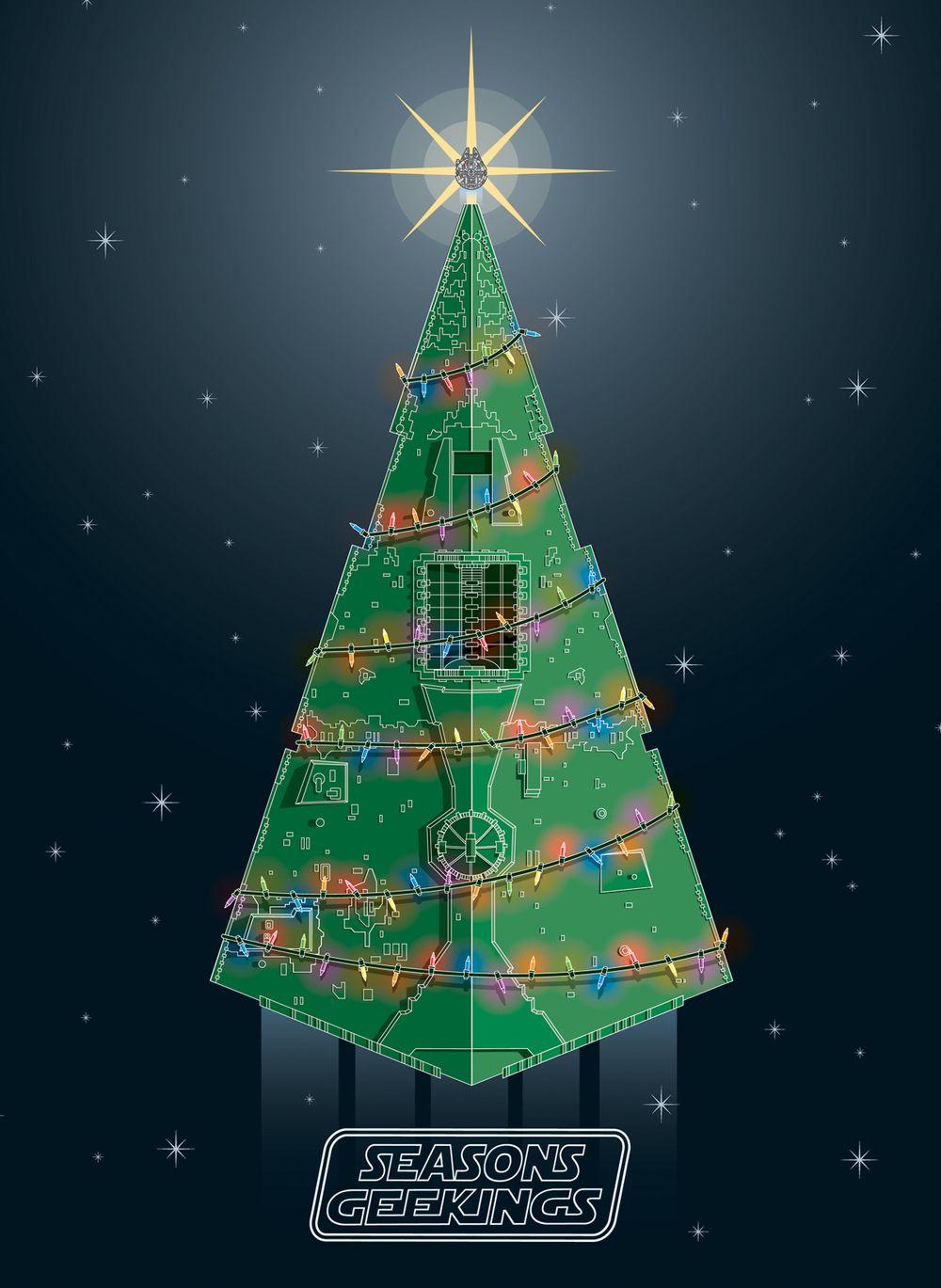 Pin By Carol Gossman On A Sci Fi Christmas Star Wars Awesome Star Wars Christmas Star Wars Wallpaper